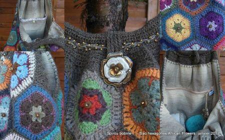 Sac African Flowers montage détails