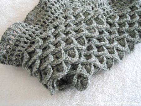 Echarpe Crochet Point Crocodile 02