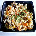Risotto carottes champignons