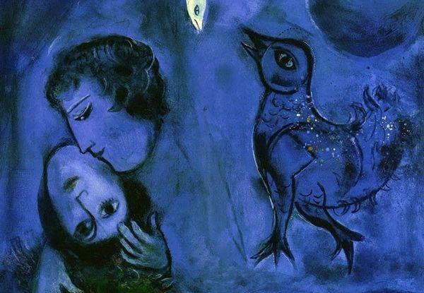 Chagall-Paysage bleu