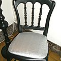 Chaise baroque assise argent. Réf. MB 9