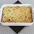 Clafoutis saumon poireaux et lait de coco
