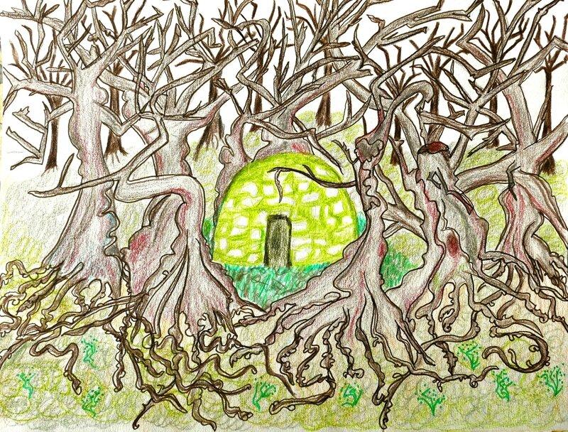 capitelle dans le bois yurtao