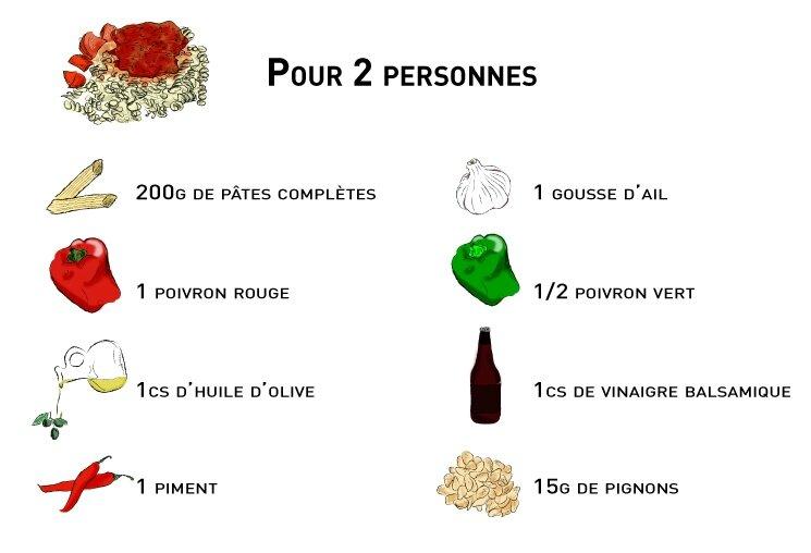 recette_pates-poivrons