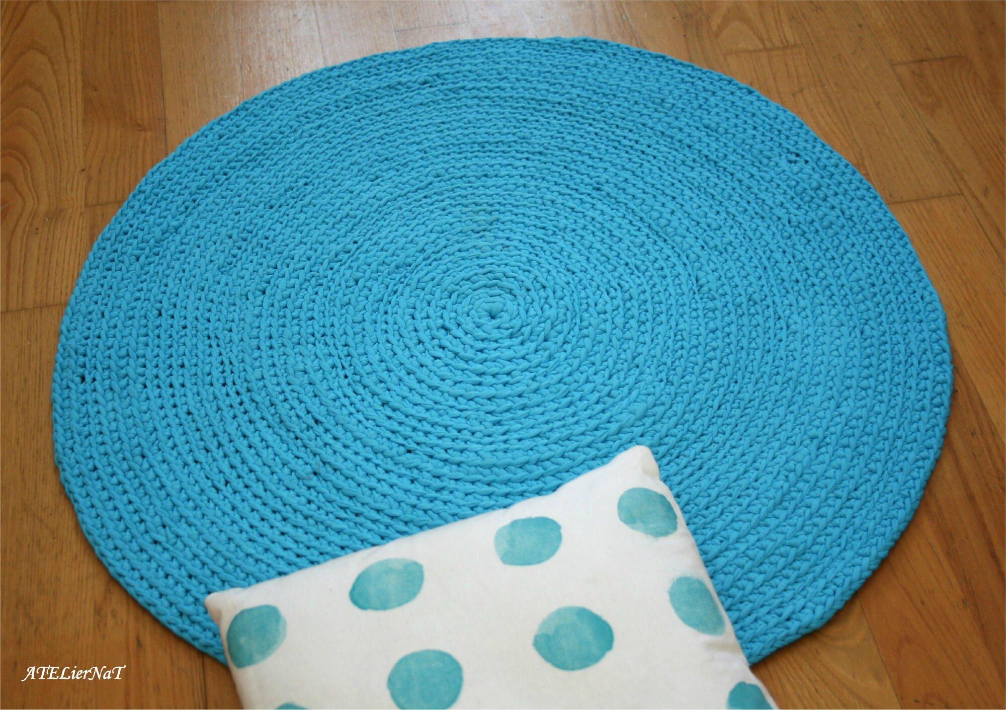 tapis rond au crochet ateliernat cr ations d co loisirs cr atifs. Black Bedroom Furniture Sets. Home Design Ideas