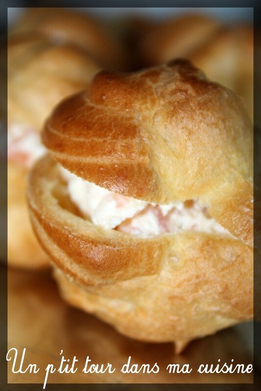 Choux saumon fumé fromage aneth1