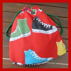 Sac chaussures rouge