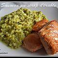 Saumon crousti fondant et sa fondue de poireaux au curry...