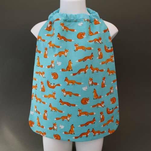 Nouvelle serviette de table cou élastiqué Lilooka pour enfants : Renards