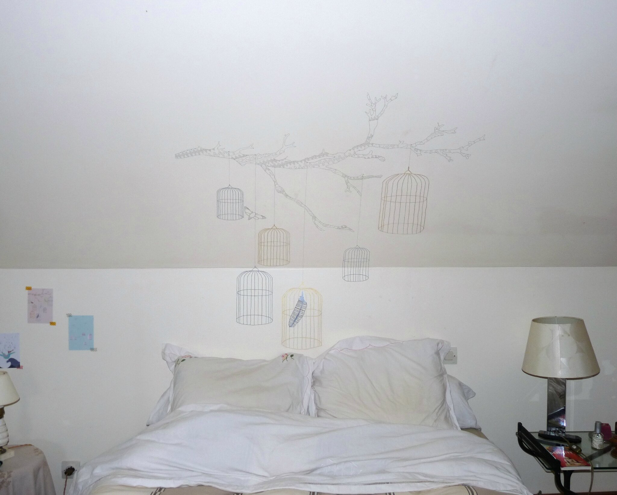 tu veux bien dessiner sur mes murs un nuage une plume. Black Bedroom Furniture Sets. Home Design Ideas