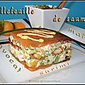 Millefeuille de saumon au surimi,  l