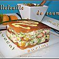 Millefeuille de saumon au surimi, à l