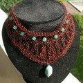 collier oriental perlé turquoise