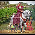 Spectacle équestre (cie capalle) fête médiévale du château de talmont en vendée
