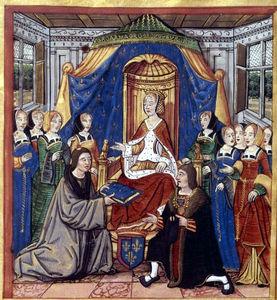 La duchesse d'Alençon dans une scène de dédicace