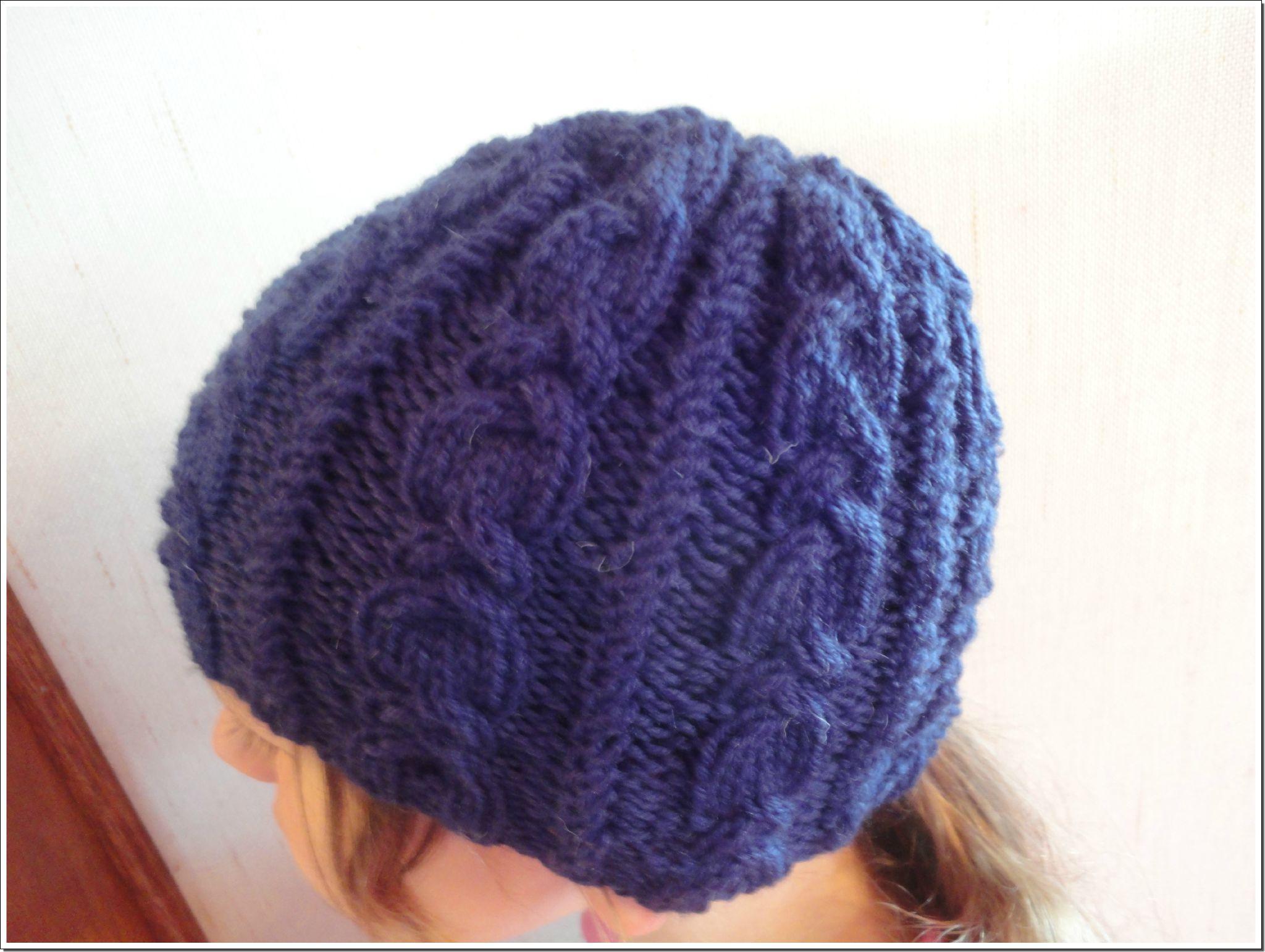 Tricoter un bonnet aiguille 4 5 - Aiguille a tricoter geante ...