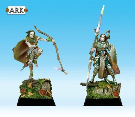 Archer et guerrier Daïkinee peint par Arkaal 01