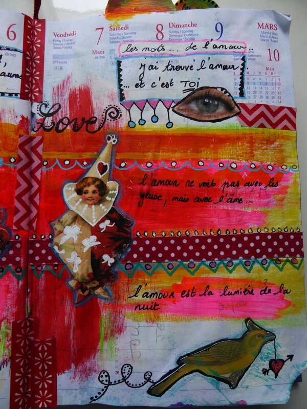 art journal love to love les mots 3