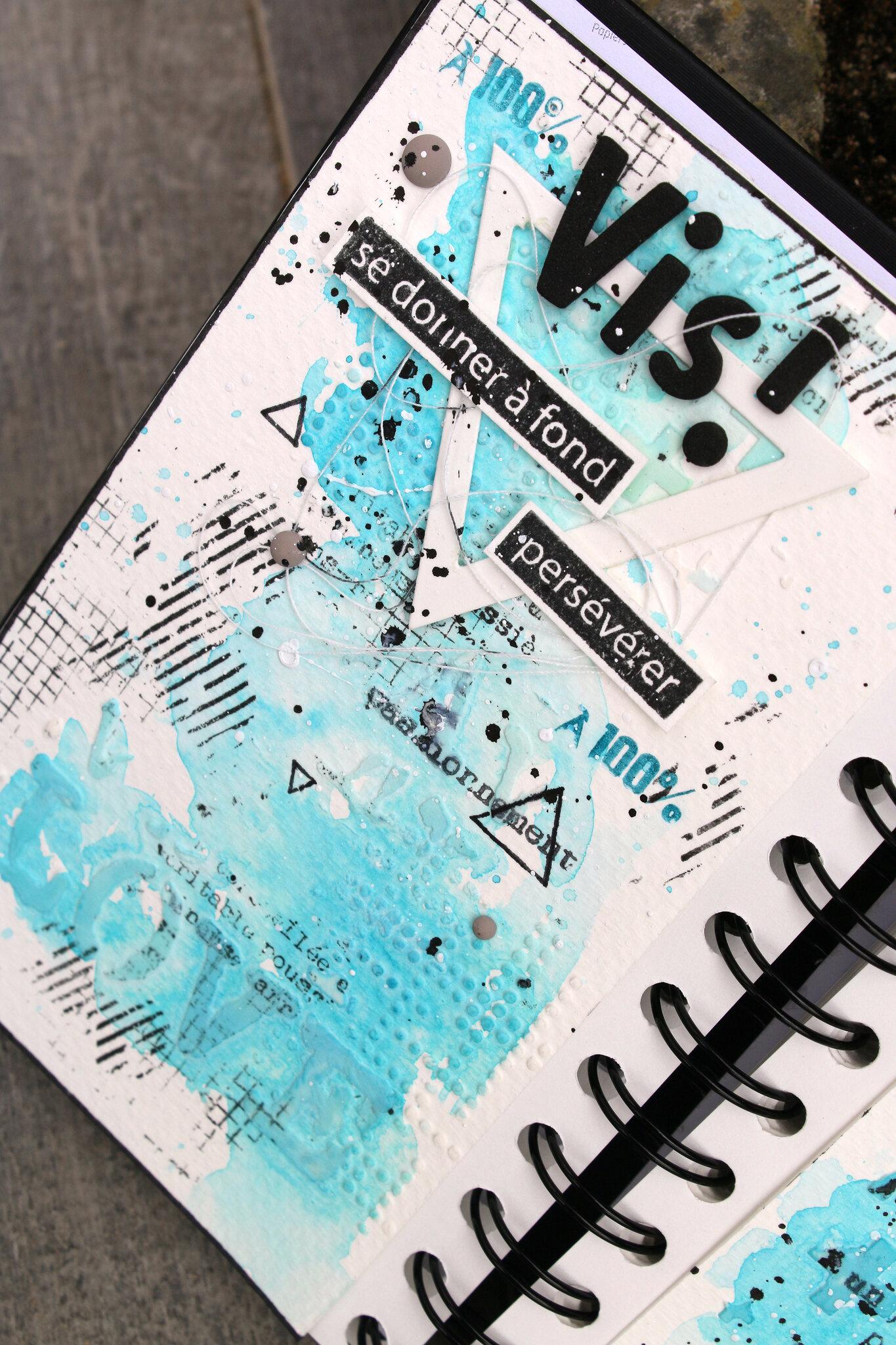 Création d'une page d'Art Journal et feutres Floricolor - Tutoriel par Lalaith