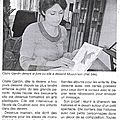 article Ouest France jeudi 7 avril 2011 Claire Gardin