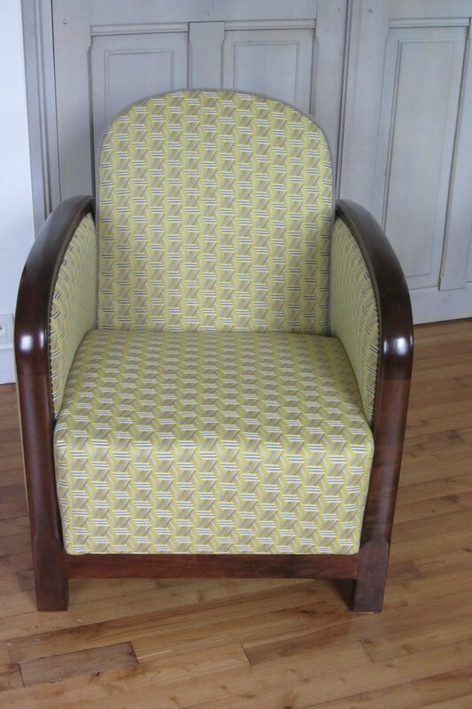 fauteuil art déco tapissier à Brest