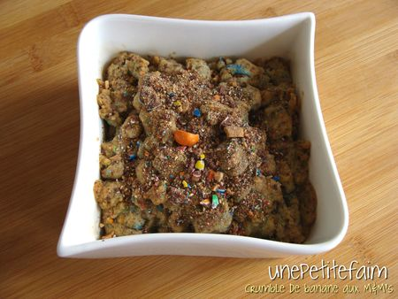 Crumble banane M&M's