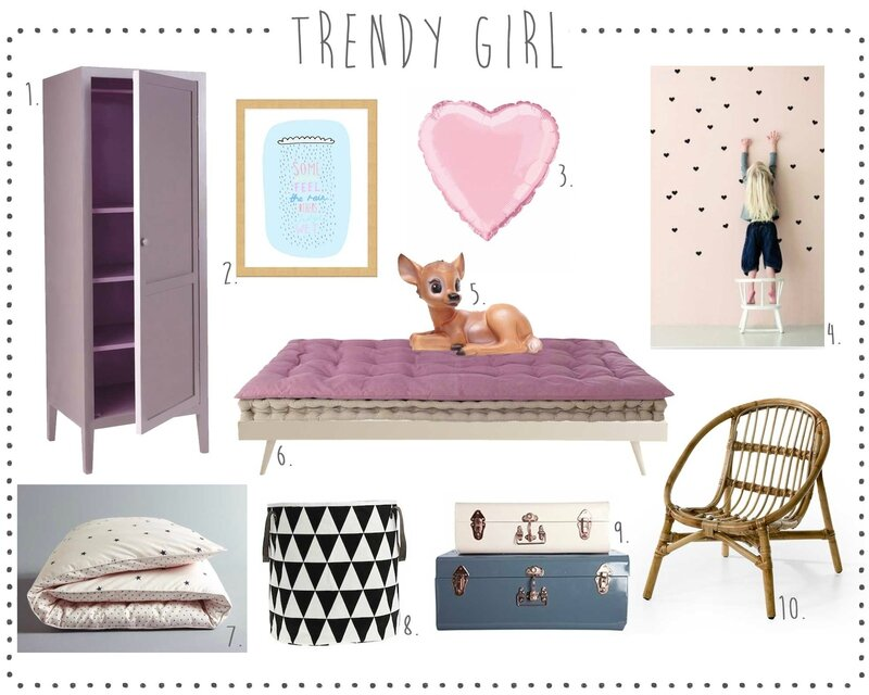 Chambre-fille-Trendy-girl-room-rose-pink-vintage