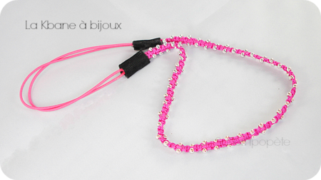 headband rose fluo2