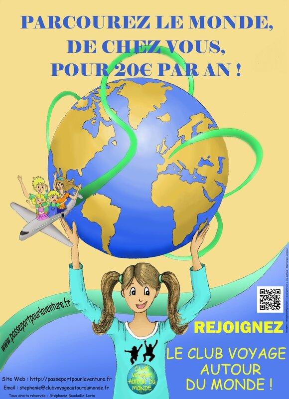 Affiche Club Voyage autour du monde