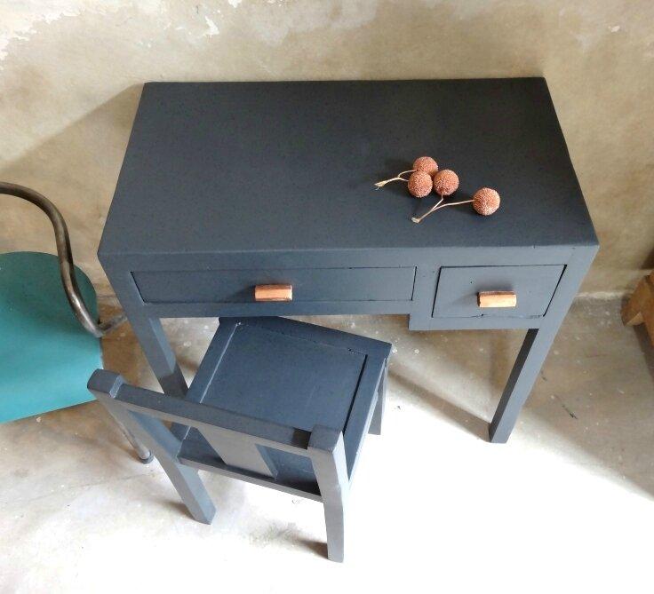 bureau et chaise enfant retro 6