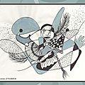 Illustration carnaval revue Joie de Vivre Berratenco Ghislaine Letourneur - Accessoires carnaval - Dessin feutre et gouache