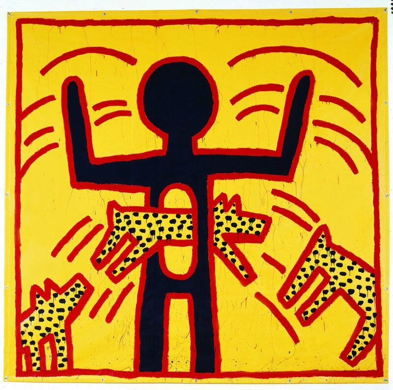 "Keith Haring, ""The political line""?"