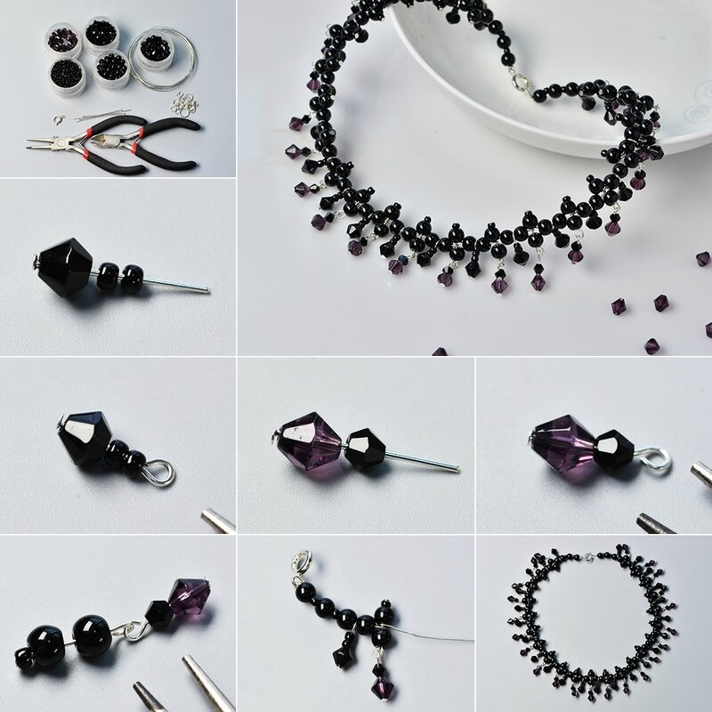 Pandahall-Tutorial-on-How-to-Make-Chic-Black-Glass-Beads-Necklace
