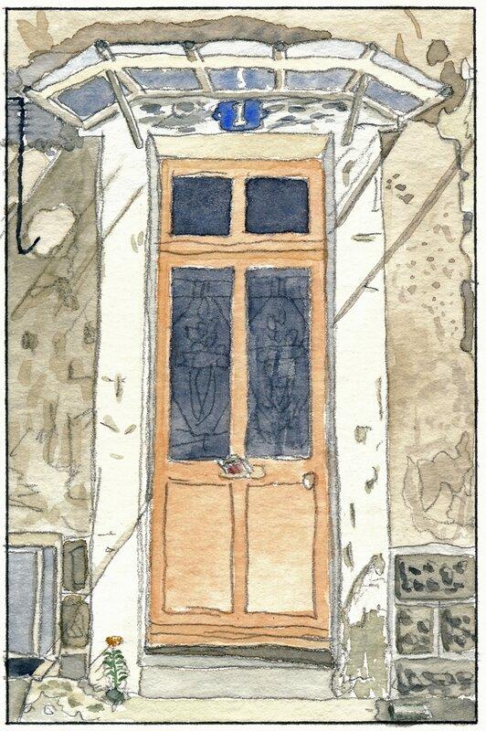 35 Sablé - Maison avec marquise (non localisée) 1992 02 26 (2 de 3)