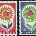La marguerite et les timbres postaux