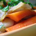 Confit oriental de petits legumes nouveaux