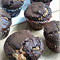 Muffins au chocolat et pâte de spéculoos