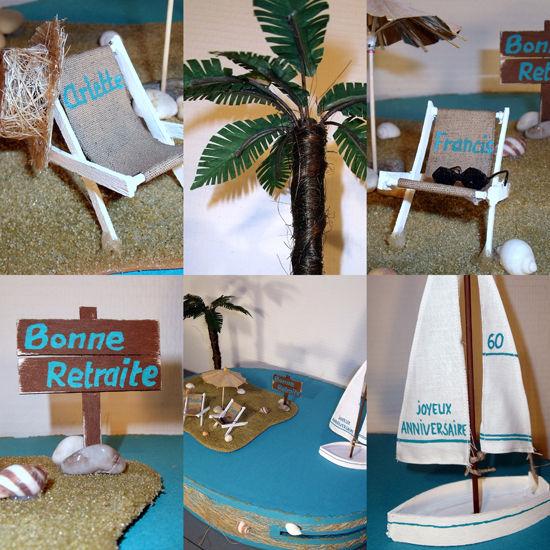 Urne pour anniversaire et d part en retraite l 39 atelier for Fabriquer un palmier artificiel