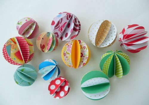 Tuto des boules en papier le bonheur est aussi dans la - Comment fabriquer une boule de noel ...