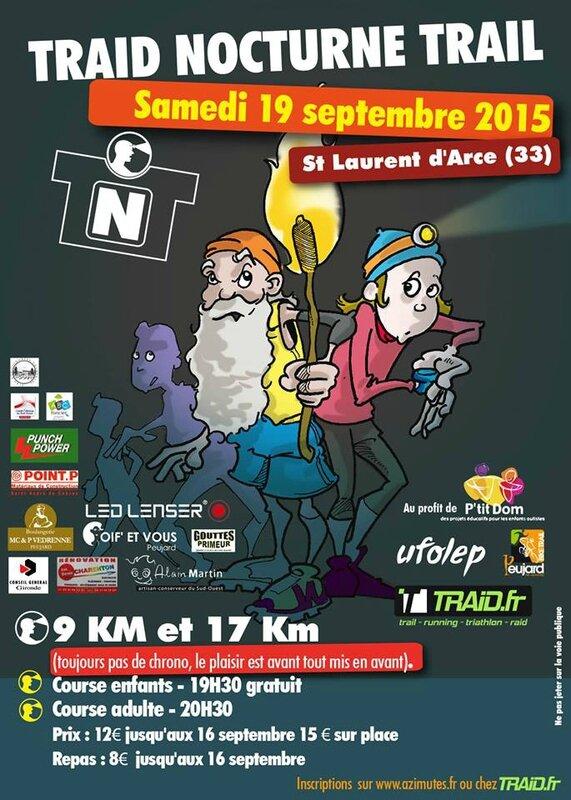 Trail nocturne pour P'tit Dom