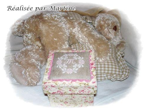 Boite à bijoux réalisée par Martine