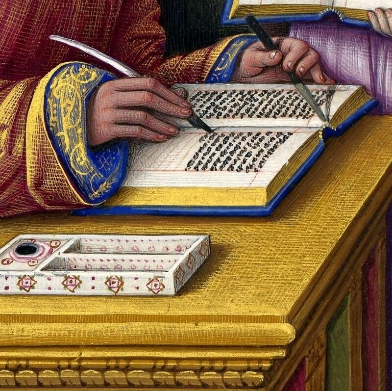Moyen-Age, La fabrication d'un manuscrit -Middle Ages, The manufacturing of a manuscript (2)