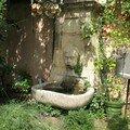 0566 - Fontaine d'un jardin Aix 16 juin