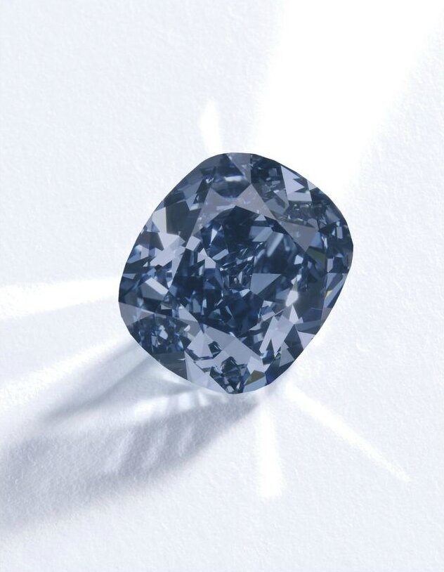 'The Blue Moon'. An exceptional Fancy Vivid Blue diamond ring