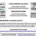 Mobilisation le 25 octobre à rennes pour soutenir la famille de marine