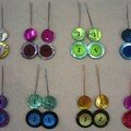 Srie de boucles d'oreilles boutons nacrs (cration Le Comptoir)