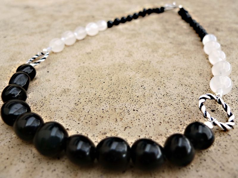 Collier en Obsidienne 59€