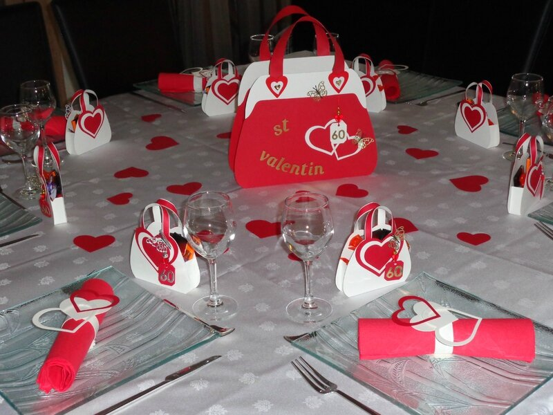 Table st valentin anniversaire 60ans les cr ations - Table de saint valentin ...