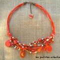 collier rose/orange