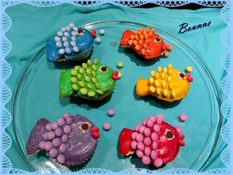 cupcake poisson pour pâques (2)